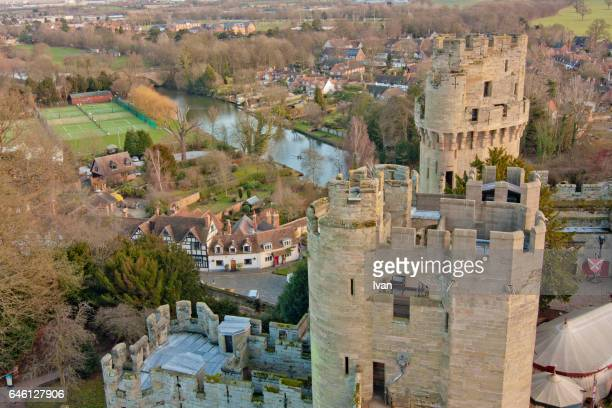 Aero view of Leeds Castle in Kent, UK