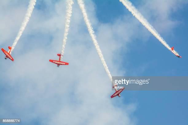 Einen Aerobic-Flugzeuge