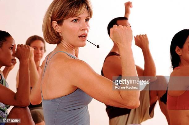 Aerobics class instructor