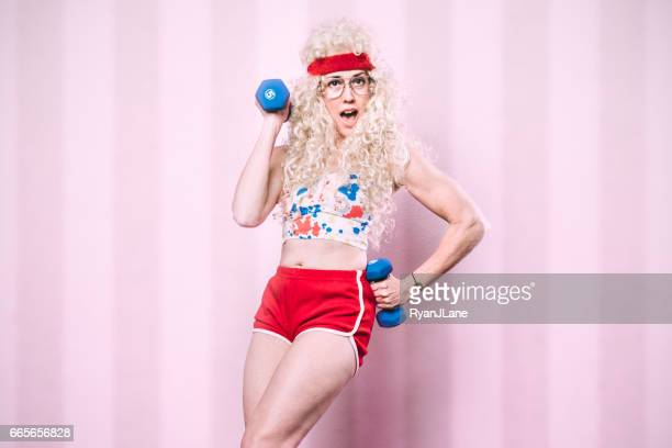 Aerobics Teacher Working Out