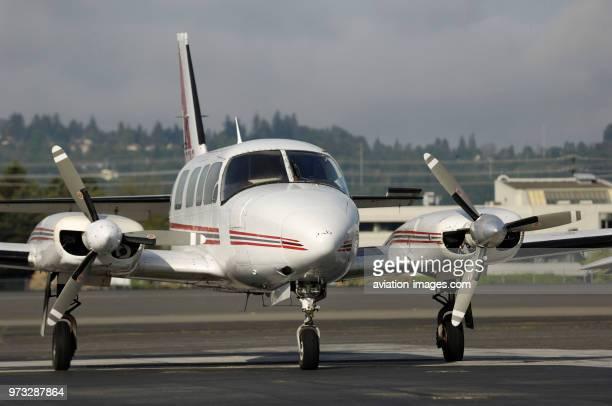 Aeroflight Executive Services Piper PA31350 Navajo Chieftain parked