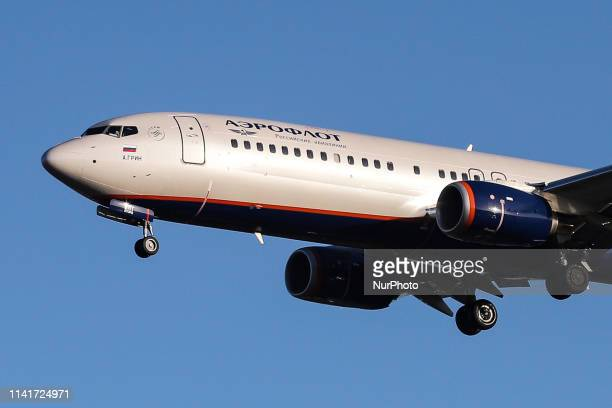 Aeroflot - Russian Airlines Boeing 737-8LJ or Boeing 737-800 NG aircraft with registration VQ-BHT and ETOPS certification landing at the Dutch...