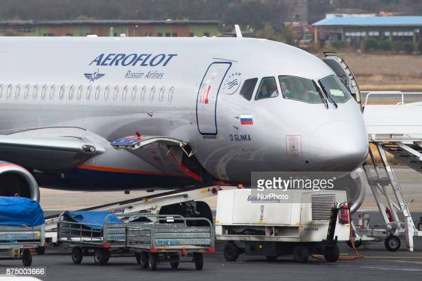 Aeroflot's Russian Airlines Sukhoi Superjet 100 as seen in Thessaloniki International Airport quotMakedoniaquot The airline is connecting...