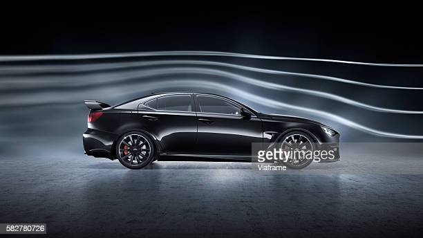 aerogeneric car - wind tunnel testing stock photos and pictures