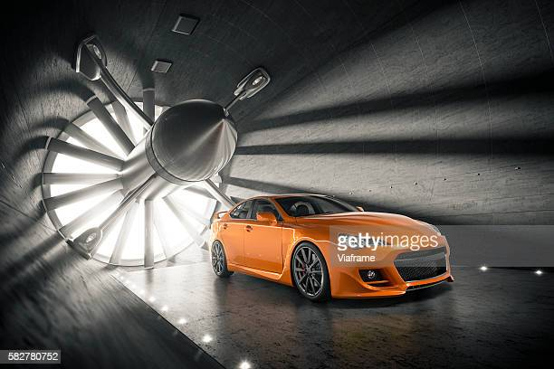 Aerogeneric Car Wind Tunnel Dark