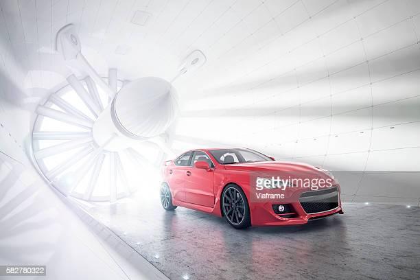 Aerogeneric Car Wind Tunnel red