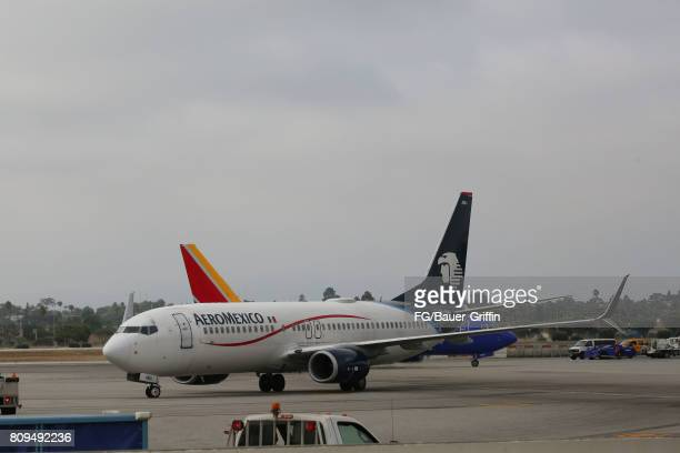 Aeromexico Boeing 737 at Los Angeles International Airport on June 28 2017 in Los Angeles California