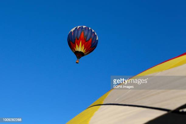 Aeronautics balloon seen in the sky The Aeronautics championship takes place in the Nizhny Novgorod region 14 teams from Russia and Germany...