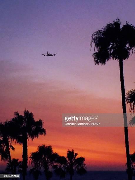 Aeroplane in dramatic sky
