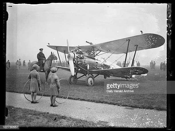 Aeroplane in Hyde Park 1933 A photograph of an RAF aeroplane which made an emergency landing in London's Hyde Park taken by Edward Malindine for the...