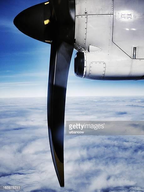 Flugzeug propeller, mid-air