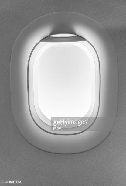 aeroplane window, illustration - window stock pictures, royalty-free photos & images