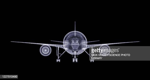 aeroplane, x-ray - fuselage stock pictures, royalty-free photos & images