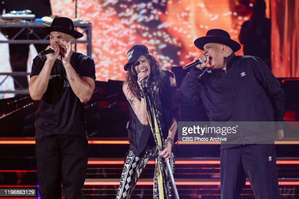 Aerosmith and RUN DMC perform at THE 62ND ANNUAL GRAMMY® AWARDS, broadcast live from the STAPLES Center in Los Angeles, Sunday, January 26, 2020 on...