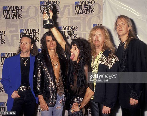 Aerosmith attends 10th Annual MTV Video Music Awards on September 2 1993 at the Universal Ampitheater in Universal City California