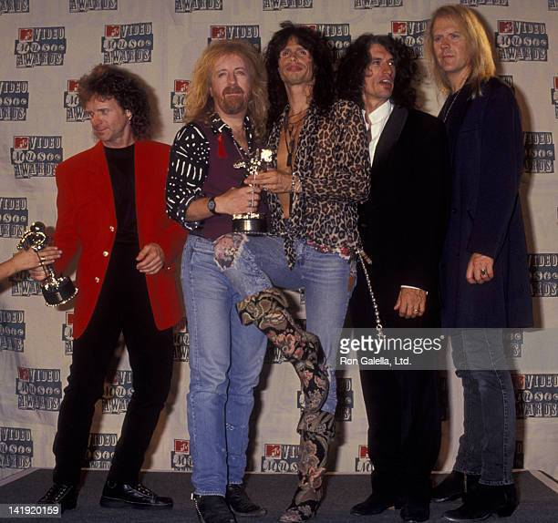 Aerosmith attends 11th Annual MTV Video Music Awards on September 8 1994 at Radio City Music Hall in New York City