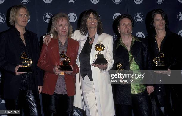 Aerosmith attends 41st Annual Grammy Awards on February 24 1999 at the Shrine Auditorium in Los Angeles California