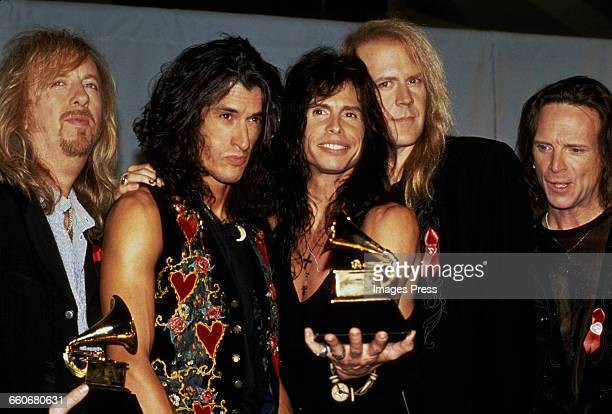 Aerosmith attends the 36th Annual Grammy Awards held at Radio City Music Hall circa 1994 in New York City