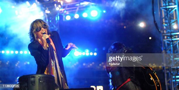 Aerosmith during Super Bowl XXXV Halftime Performance at Raymond James Stadium in Tampa Florida United States