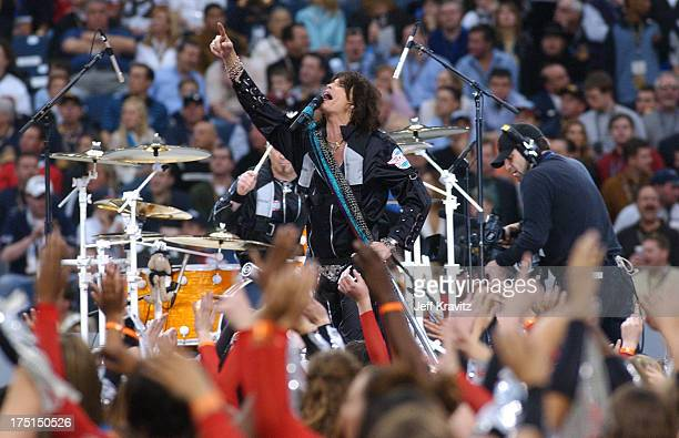 Aerosmith during Super Bowl XXXVIII PreGame Show at Reliant Stadium in Houston Texas United States