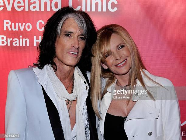 Aerosmith guitarist Joe Perry and his wife Billie Perry arrive at the Keep Memory Alive foundation's Power of Love Gala celebrating Muhammad Ali's...