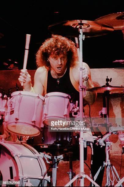 Aerosmith Joey Kramer live at Nippon Budokan Tokyo September 17 1990
