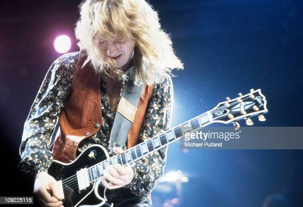 Aerosmith perform on stage New York April 1979 Brad Whitford
