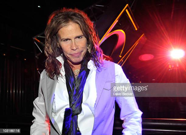 Aerosmith singer Steven Tyler attends an after concert party at Studio 54 inside the MGM Grand Hotel/Casino early August 1, 2010 in Las Vegas, Nevada.