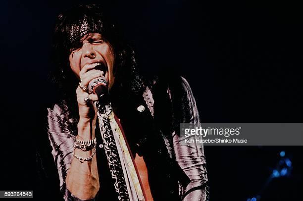 Aerosmith Steven Tyler live at Nippon Budokan, Tokyo, June 1988.