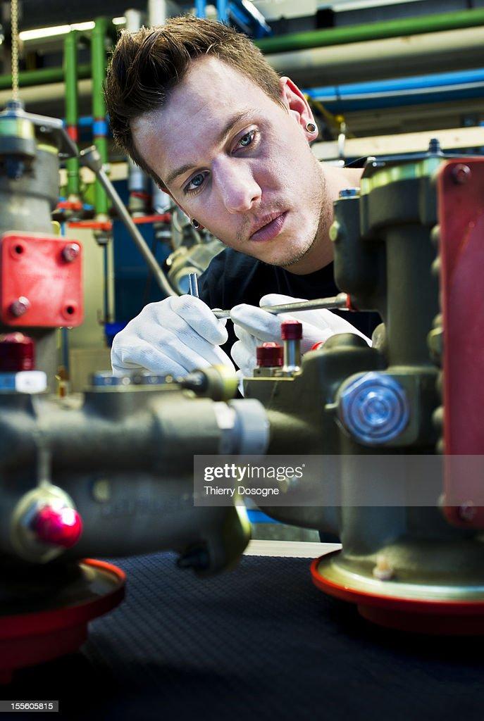 Aerospace technician : Stock Photo