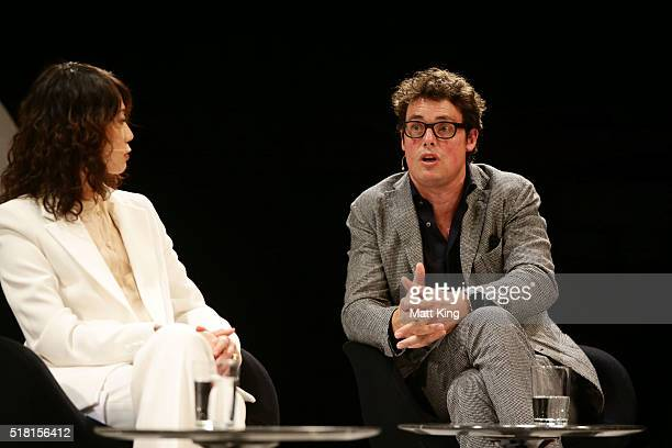 Aesop CEO Michael O'Keefe speaks during the Business of Fashion Presents VOICES at Sydney Opera House on March 30 2016 in Sydney Australia