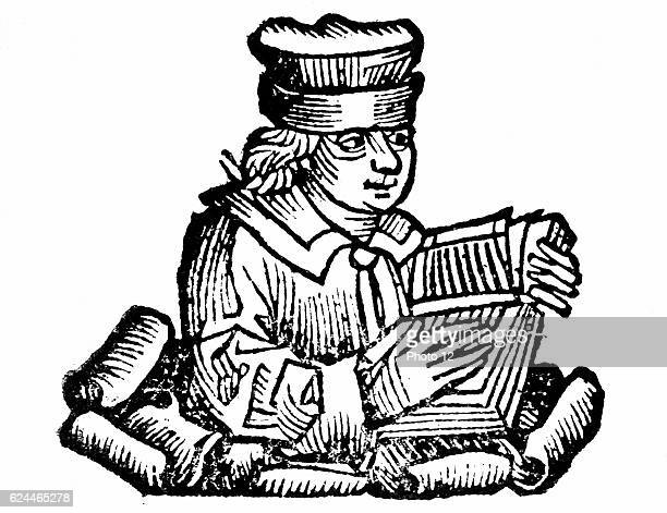 """Aesop - probably legendary Greek fabulist, according to Herodotus, he lived 6th century BC. 1493 Woodcut from Hartmann Schedel """"Liber chronicarum..."""