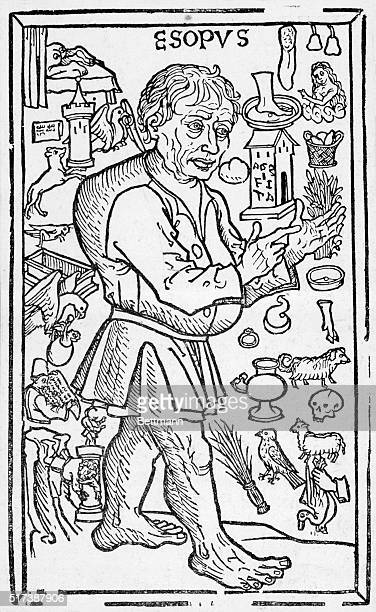 Aesop reputed Greek author of Aesop's fables Augsburg 1498 printed by Johann Schonsperger