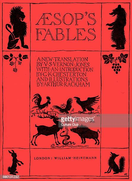 Aesop 's Fables frontispiece 1933 edition illustrated by Arthur Rackham