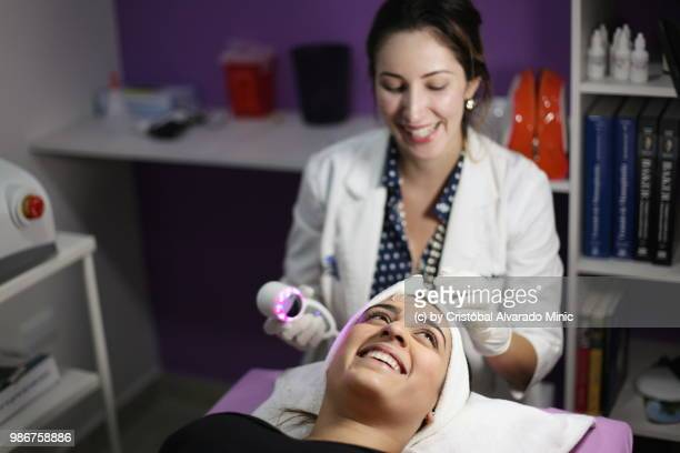 Aesthetic Doctor Performs Light-emitting Diode Session