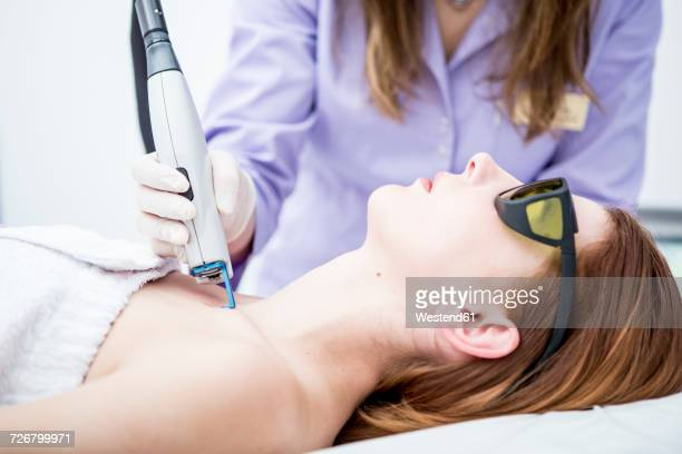 aesthetic surgery, vascular laser treatment - female reproductive system stock photos and pictures