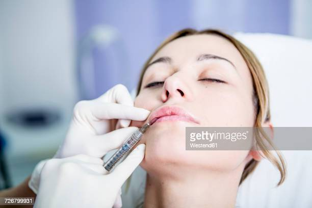 Aesthetic surgery, woman receiving Derma Filler