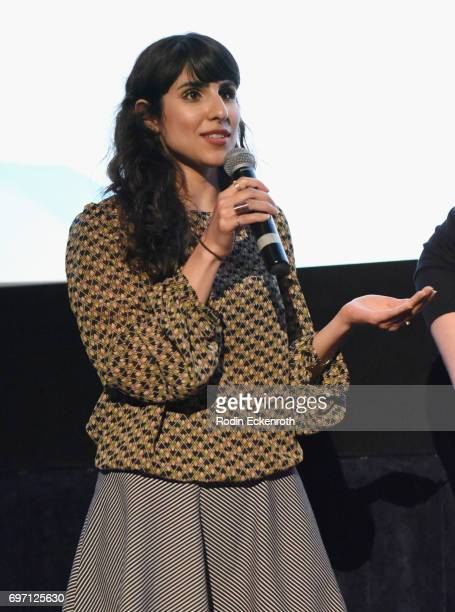 Afagh Irandoost speaks onstage at Shorts Program 1 during the 2017 Los Angeles Film Festival at Arclight Cinemas Culver City on June 17 2017 in...