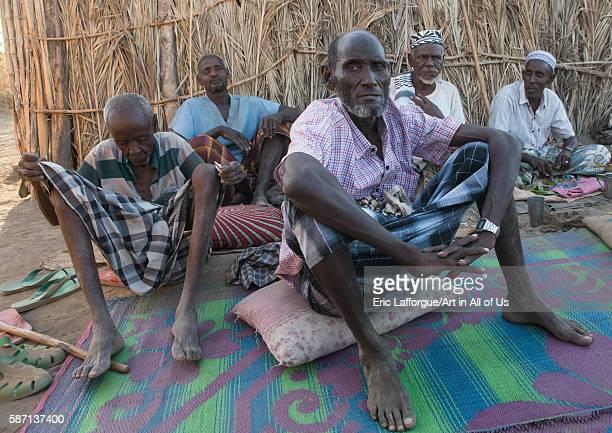 Afar tribe elders meeting afar region afambo Ethiopia on March 1 2016 in Afambo Ethiopia