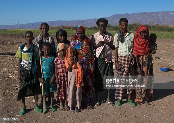 Afar tribe family afar region afambo Ethiopia on March 1 2016 in Afambo Ethiopia