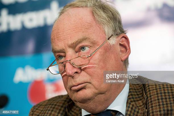 AfD Brandenburg lead candidate Alexander Gauland attends a pressconfernde after the strong results in both Brandenburg and Thuringia state elections...