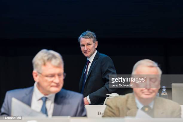 AfD federal spokesman Joerg Meuthen, AfD Thuringia leader Bjoern Hoecke, Alexander Gauland, co-leader of the right-wing Alternative for Germany...