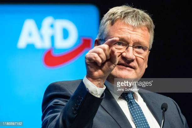 AfD federal spokesman Joerg Meuthen speaks during the federal congress of the right-wing Alternative for Germany political party on November 30, 2019...