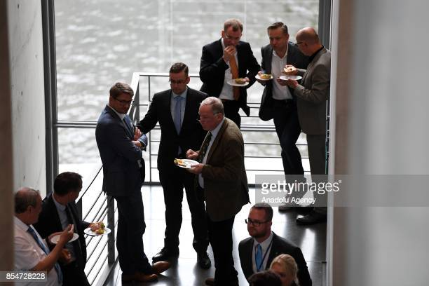 AfD parliament members and AfD top candidates and new elected faction leader Alexander Gauland attend the first faction meeting of the rightwing...
