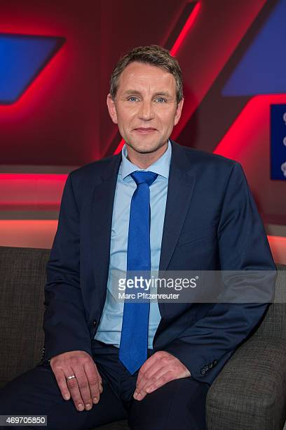 AfD politician Bjoern Hoecke attends the 'Menschen bei Maischberger' TV Show at the WDR Studio on April 14 2015 in Cologne Germany
