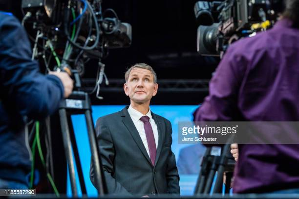 AfD Thuringia leader Bjoern Hoecke attends the federal congress of the right-wing Alternative for Germany political party on November 30, 2019 in...