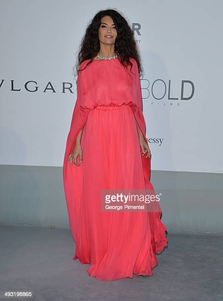 Afef Jinen attends amfAR's 21st Cinema Against AIDS Gala Presented By WORLDVIEW BOLD FILMS And BVLGARI at the 67th Annual Cannes Film Festival on May...