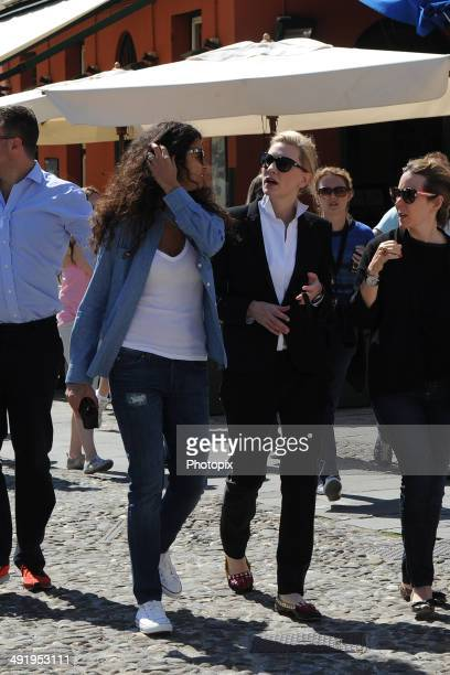 Afef Jnifen and Cate Blanchett is seen while filming for the International Watch Company on May on May 18 2014 in Portofino Italy