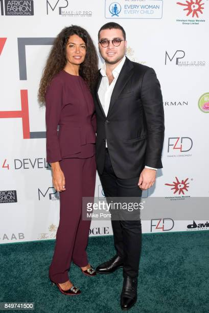 Afef Jnifen and Elie Saab Jr attend Fashion 4 Development's 7th Annual First Ladies Luncheon at The Pierre Hotel on September 19 2017 in New York City