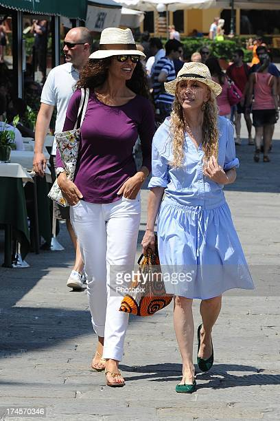 Afef Jnifen and Franca Sozzani are seen on July 27 2013 in Portofino Italy